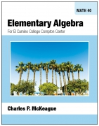 Compton Math 40: Elementary Algebra