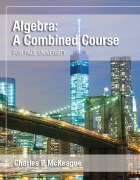 Algebra: A Combined Course for Pace University