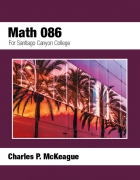 Santiago Canyon College Math 086
