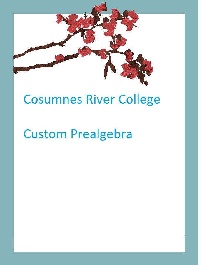 Cosumnes River Prealgebra